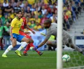 Sans Neymar, le Brésil ne bat pas le Panama. AFP