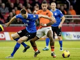 Memphis blessé, Garcia s'en prend aux Pays-Bas. AFP