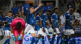 Les compos probables du match des barrages d'Europa League entre Strasbourg et Francfort. AFP