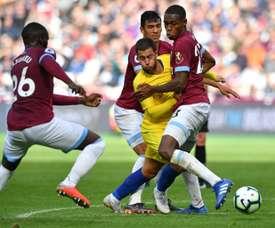 Prováveis escalações de Chelsea e West Ham. AFP