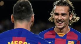Simeone falou sobre a dupla Griezmann-Messi. AFP