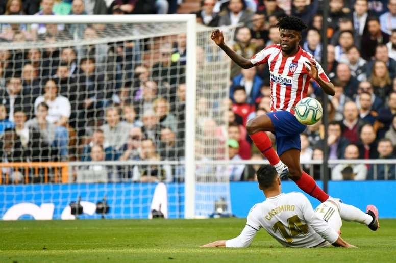 Thomas Partey dejó el Atlético por el Arsenal. AFP