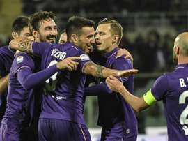 La Fiorentina lors du choc de Serie A contre l'Inter Milan disputé à Florence. AFP