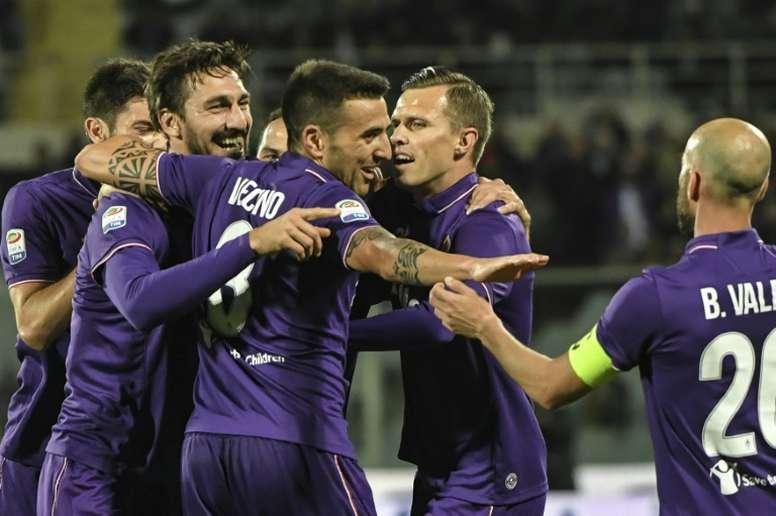 La Fiorentina cede a Bangu. AFP