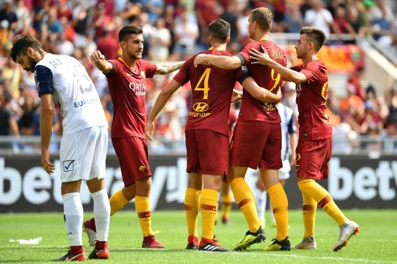 A Roma cedeu o empate e agora encara o Real Madrid. AFP