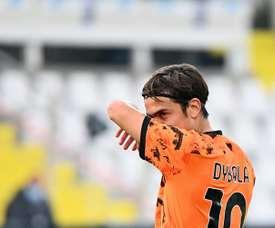 A Juve inicia as conversas para renovar com Dybala. AFP
