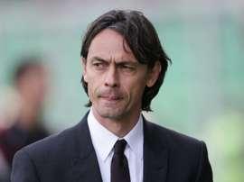 L'ancien attaquant et entraîneur de l'AC Milan Filippo Inzaghi lors d'un match à Palerme. AFP