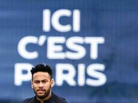 Nada muda a ideia de Neymar. AFP