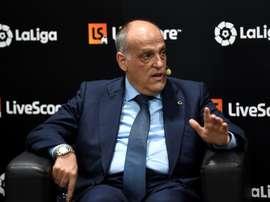 Tebas s'élève contre l'interdiction de délocaliser des matches. AFP