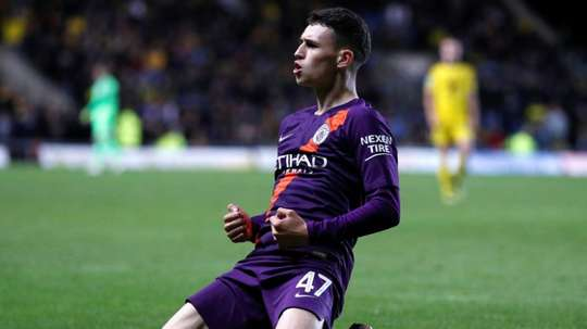 Foden opened his Manchester City account in the Carabao Cup on Tuesday.