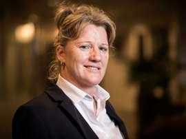 Brigitte Henriques, la porte-voix du football féminin. AFP