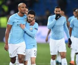 Bernardo Silva teceu rasgados elogios a Guardiola. AFP