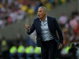 Tite a évoqué de Rodrygo avec la sélection brésilienne. AFP