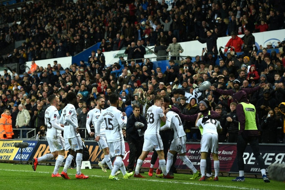 El Swansea ha sido uno de los pocos galeses en jugar en la Premier. AFP/Archivo