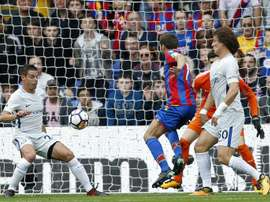 Cabaye scores Crystal Palace's first Premier League goal of the season. AFP