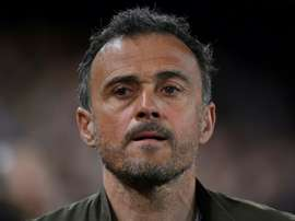 Luis Enrique will miss Tuesday's match. AFP
