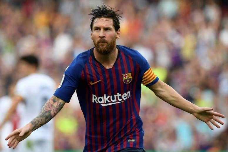 Messi enfile les records comme des perles. AFP