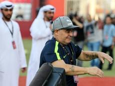 Maradona enlève sa casquette d'entraîneur. AFP