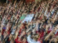 Les stades de foot comme lieu de manifestation. AFP