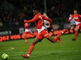 Diakhaby en match de Ligue 1 à Angers. AFP