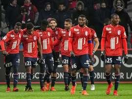 Lille somou o segundo triunfo consecutivo. AFP