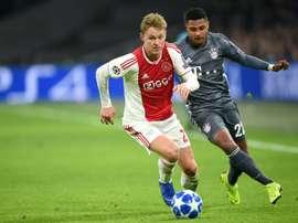De Jong llegará al Camp Nou este verano. AFP