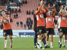 Lorient bat Nancy sur le fil et met la pression sur Lens. AFP