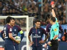 Neymar a souvent perdu les nerfs. AFP