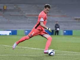 Le gardien de Toulouse Mauro Goicoechea lors du match contre Marseille au Stadium Municipal. AFP