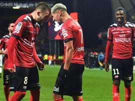 Victoire précieuse de Guingamp sur Rennes. AFP