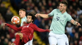 Salah and Liverpool couldn't find a way past the resolute Bayern defence. AFP
