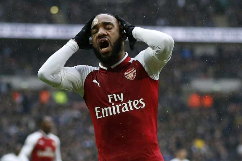 Lacazette to miss crucial six weeks after knee operation. AFP
