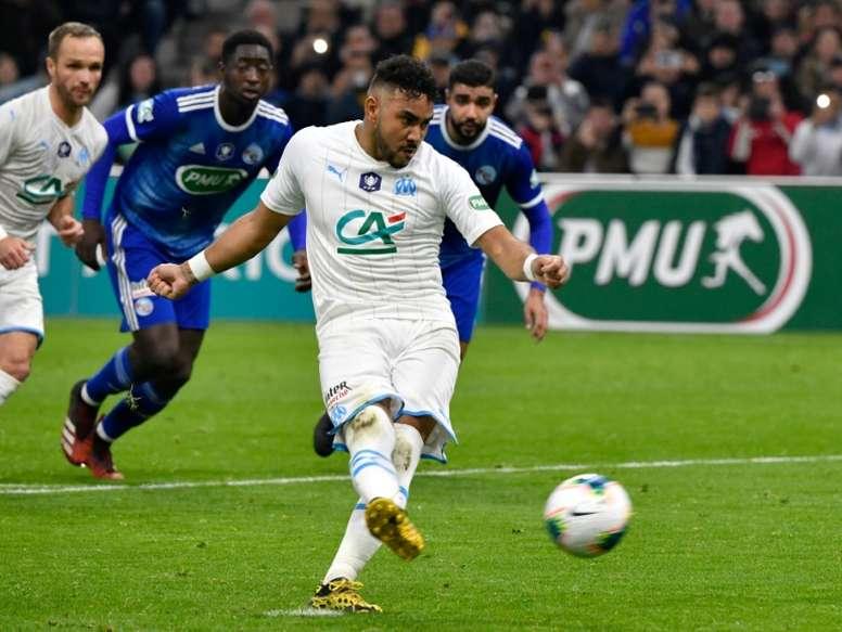 Payet sintió un pinchazo en la derrota ante el Olympique de Lyon. AFP