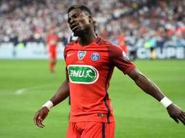 Internacional pela Costa do Marfim disputado na Premier League. AFP
