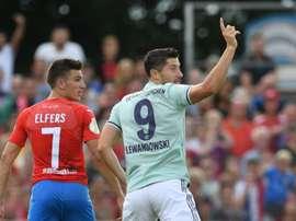 Lewandowski a marqué l'unique but. AFP
