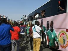 Une traversée de Dakar triomphale pour les Lions du Sénégal. AFP
