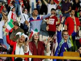 Femmes dans les stades. AFP