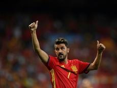 David Villa raccroche les crampons. AFP
