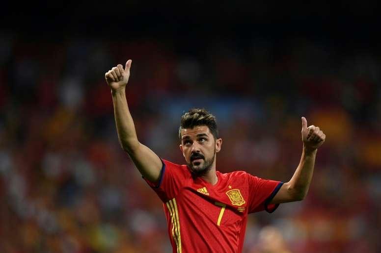 Villa podría ir en la candidatura de Casillas. AFP