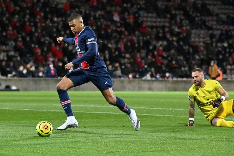 Mbappé dejó claro que el PSG va a ir a por la Champions. AFP