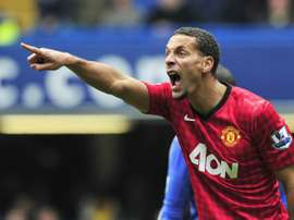 Ferdinand made 312 appearances over 12 years at Old Trafford. AFP