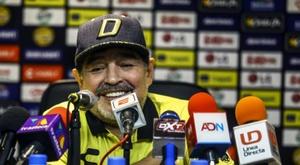 Maradona n'est pas du tout convaincu. AFP