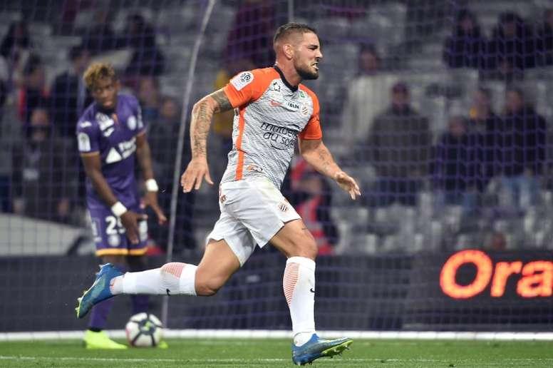 El delantero está en las filas del Montpellier. AFP