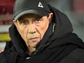 Gasset, très satisfait du match de ses joueurs. AFP