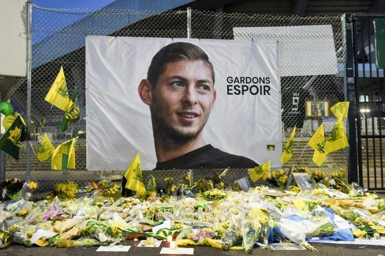 Boca reza por Sala. AFP