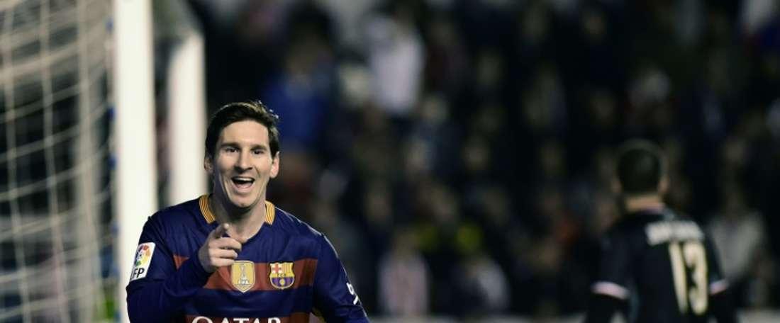 Lionel Messi, auteur dun triplé pour le Barça, face au Rayo Vallecano, le 3 mars 2016 à Madrid
