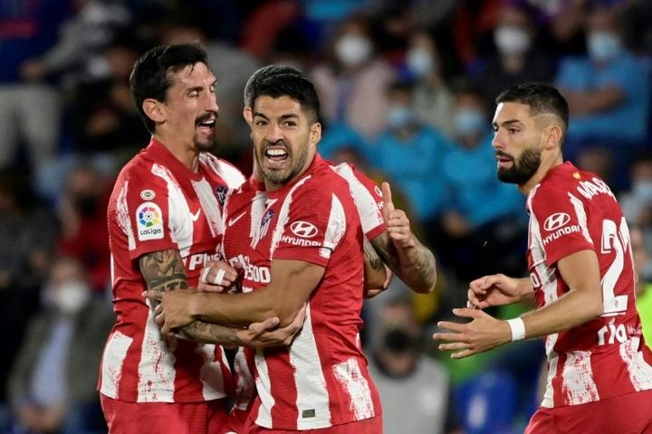 Luis Suarez sauve un Atlético encore fébrile. AFP