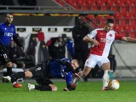 Les compos probables du match de Ligue Europa entre Nice et Slavia. afp