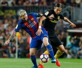 Pourquoi Filipe Luis n'a jamais demandé son maillot à Messi. AFP