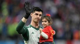 Courtois could be waving goodbye to Chelsea this summer. AFP